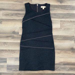 Michael Kors Dark Grey Zipper Body Con Dress